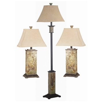 Bennington 3-piece Table & Floor Lamp Set