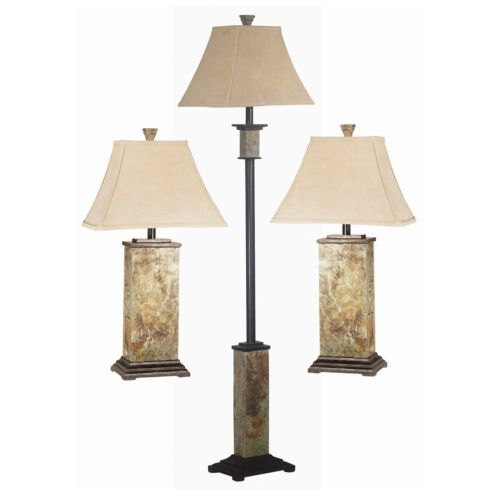 Bennington 3 piece table floor lamp set