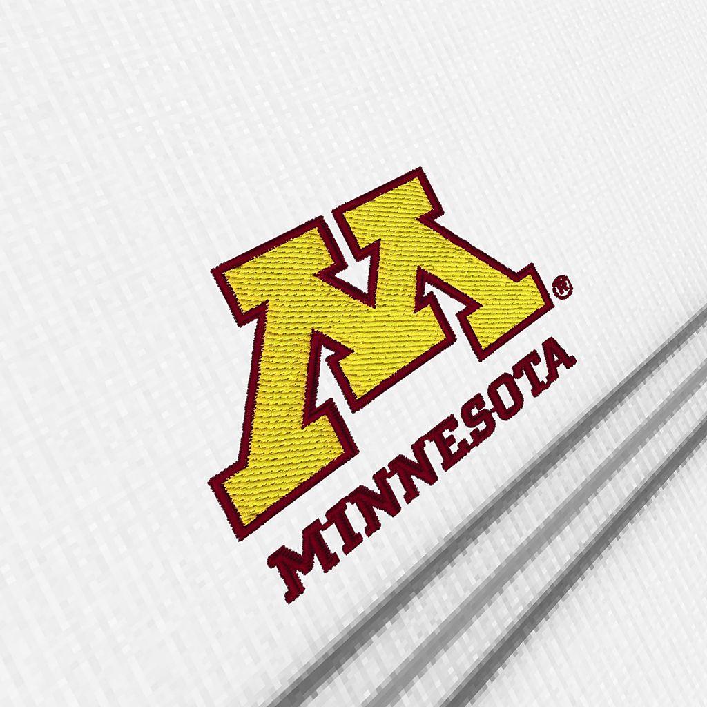Men's Antigua Minnesota Golden Gophers Deluxe Striped Desert Dry Xtra-Lite Performance Polo
