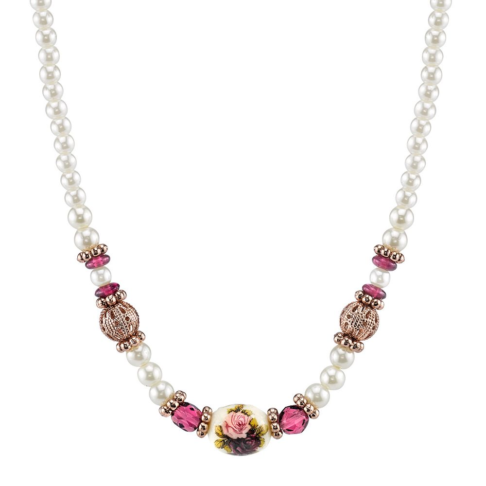 1928 Bead & Flower Necklace