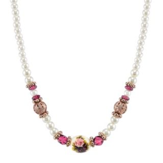 1928 Bead and Flower Necklace