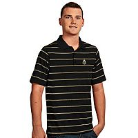 Men's Antigua Purdue Boilermakers Deluxe Striped Desert Dry Xtra-Lite Performance Polo
