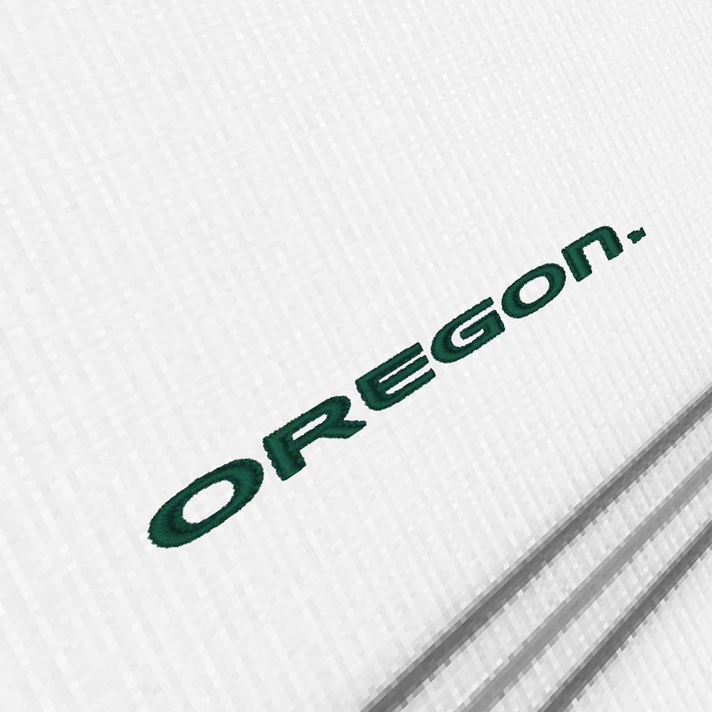 Men's Antigua Oregon Ducks Deluxe Striped Desert Dry Xtra-Lite Performance Polo