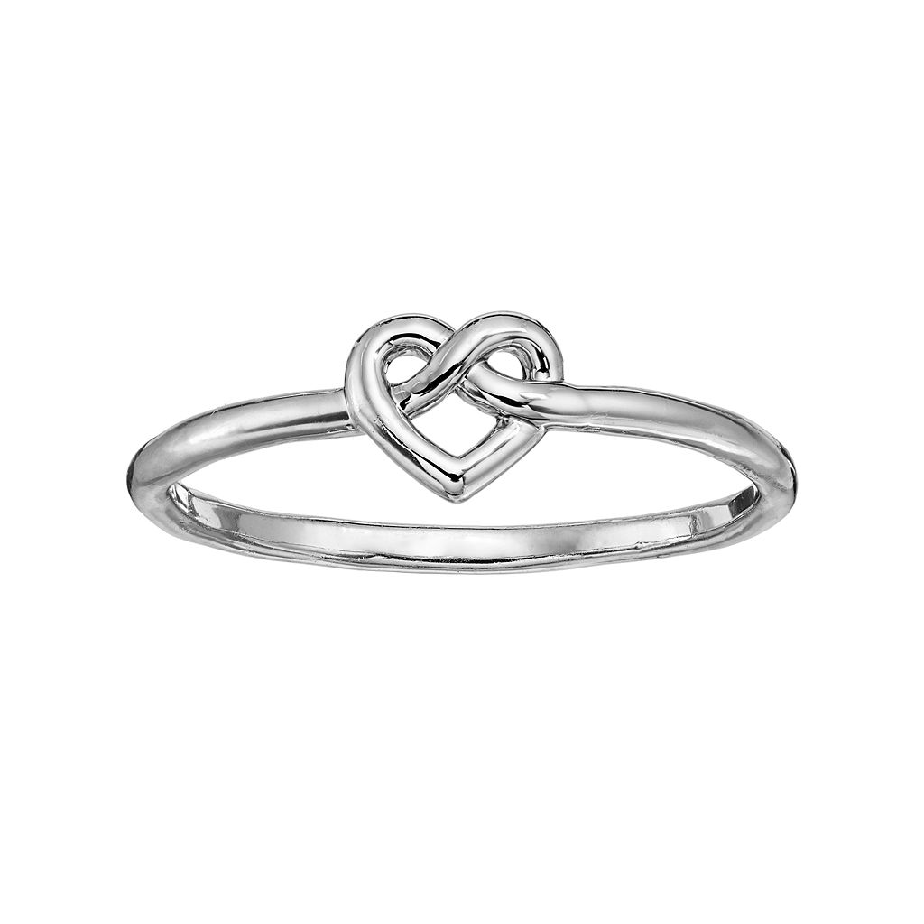LC Lauren Conrad Knotted Heart Ring