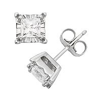 1/2 Carat T.W. Diamond 10k White Gold Stud Earrings
