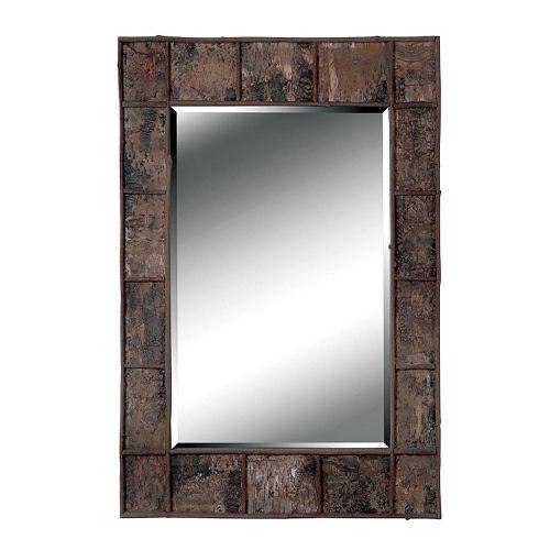 Birch Bark Wall Mirror