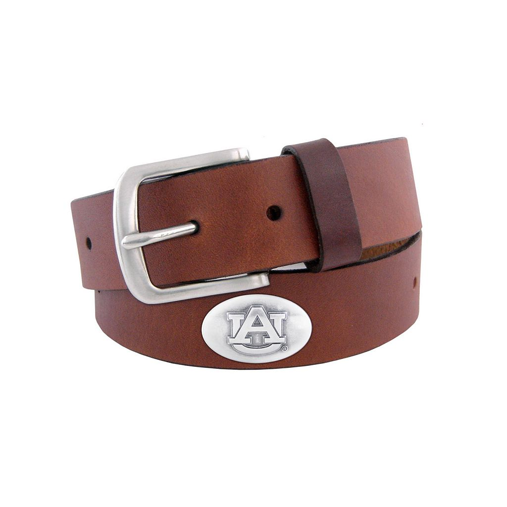 Men's Zep-Pro Auburn Tigers Concho Leather Belt