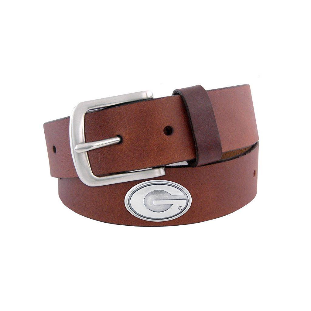 Men's Zep-Pro Georgia Bulldogs Concho Leather Belt