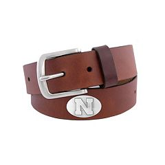 Men's Zep-Pro Nebraska Cornhuskers Concho Leather Belt