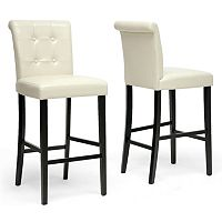 Baxton Studio 2-piece Torrington Bar Stool Set