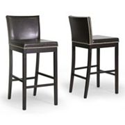 Baxton Studio 2 pc Graymoor Bar Stool Set