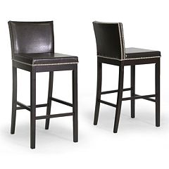 Baxton Studio 2-piece Graymoor Bar Stool Set