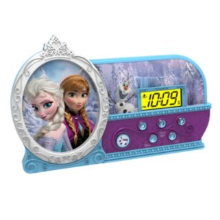 Disney Frozen Elsa and Anna Night Glow Alarm Clock