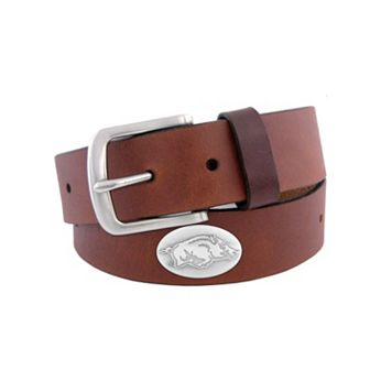 Men's Zep-Pro Arkansas Razorbacks Concho Leather Belt
