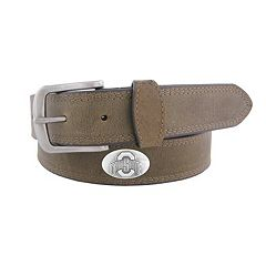 Men's Zep-Pro Ohio State Buckeyes Concho Crazy Horse Leather Belt