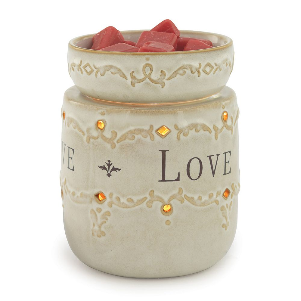 Candle Warmers Etc. ''Live, Laugh, Love'' Illumination Candle Warmer