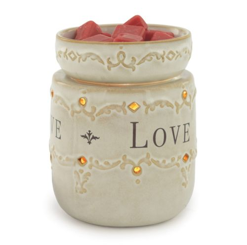 """Candle Warmers Etc. """"Live, Laugh, Love"""" Illumination Candle Warmer"""