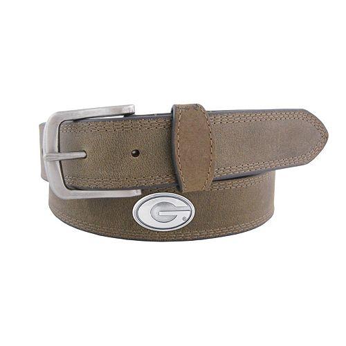 Men's Zep-Pro Georgia Bulldogs Concho Crazy Horse Leather Belt