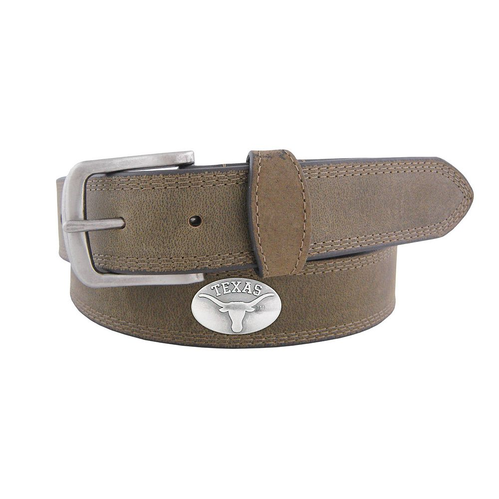 Men's Zep-Pro Texas Longhorns Concho Crazy Horse Leather Belt