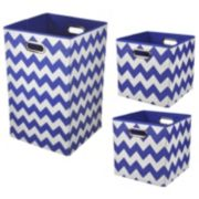 Modern Littles 3-pc. Chevron Storage Bin Set