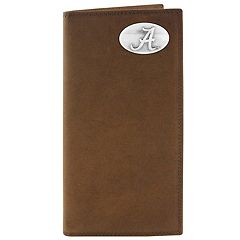 Zep-Pro Alabama Crimson Tide Concho Crazy Horse Leather Secretary Wallet