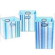 Modern Littles 3 pc Large Striped Storage Bin Set