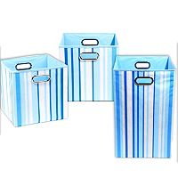 Modern Littles 3 pc Large Striped Storage Bin Set