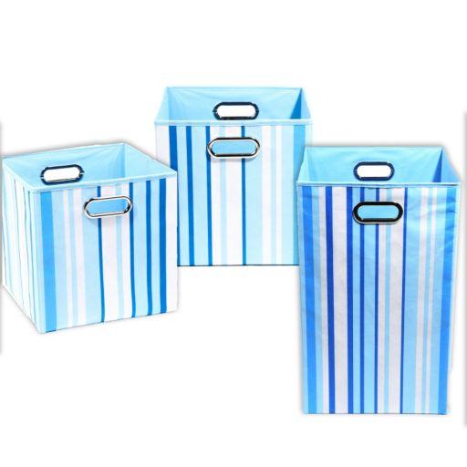 Modern Littles 3-pc. Large Striped Storage Bin Set