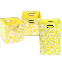 Modern Littles 3 pc Giraffe Storage Bin Set