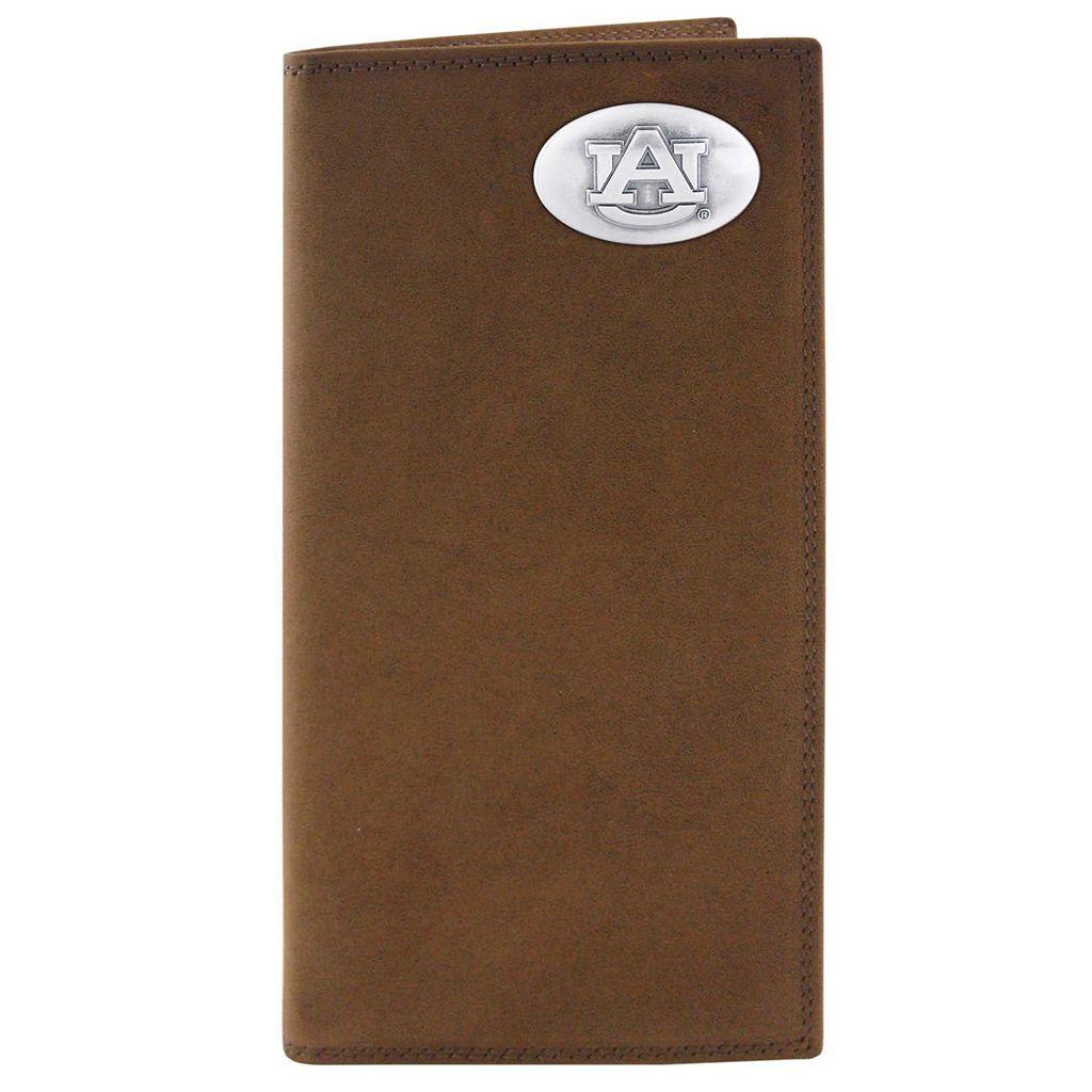 Zep-Pro Auburn Tigers Concho Crazy Horse Leather Secretary Wallet