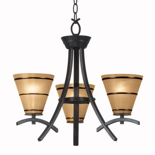 Wright 3-Light Chandelier