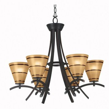 Wright 6-Light Chandelier