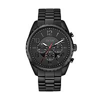 Caravelle New York by Bulova Men's Black Ion-Plated Stainless Steel Chronograph Watch