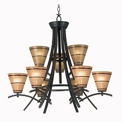Wright 9-Light Chandelier