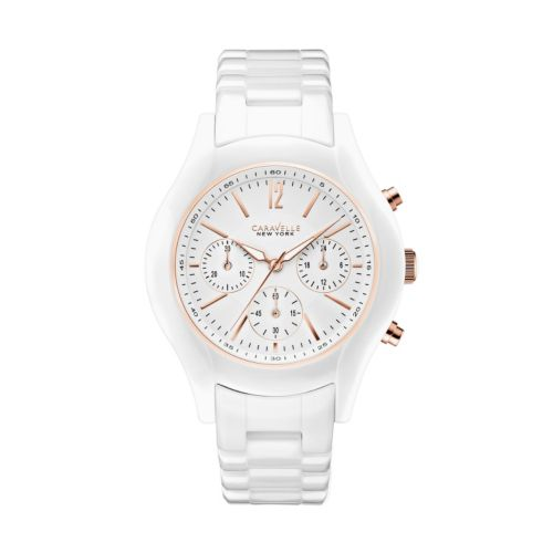 Caravelle New York by Bulova Women's Ceramic Chronograph Watch - 45L144
