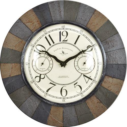 FirsTime Slate Garden Wall Clock