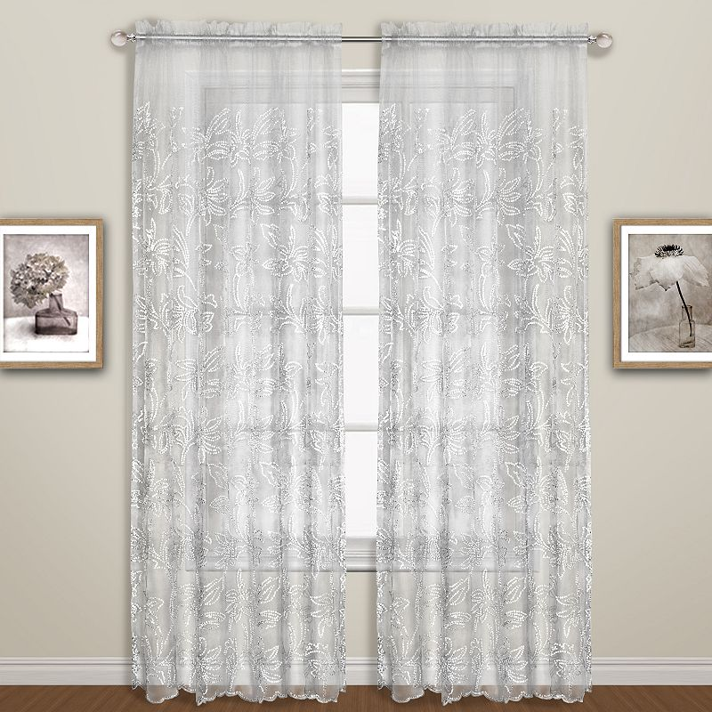 united curtain co bling sheer curtain 55 39 39 x 84 39 39