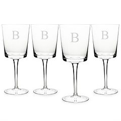 Cathy's Concepts Monogram 4-pc. Contemporary Wine Glass Set