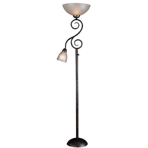 Treble Torchiere Floor & Reading Lamp