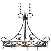 Countryside 2-Light Pot Rack Ceiling Light