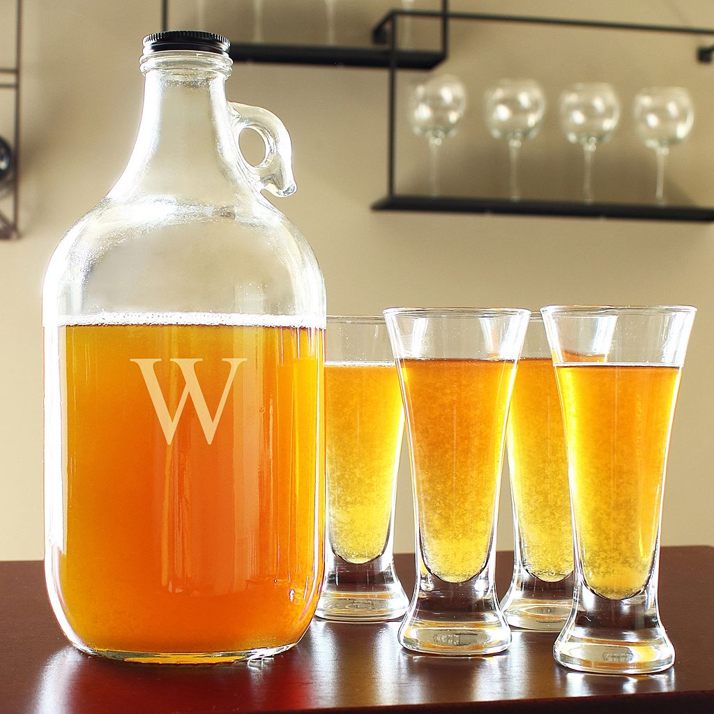 Cathy's Concepts Monogram Craft Beer Growler and Tasters Set