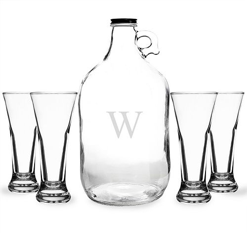 Cathy's Concepts Monogram Craft Beer Growler & Tasters Set