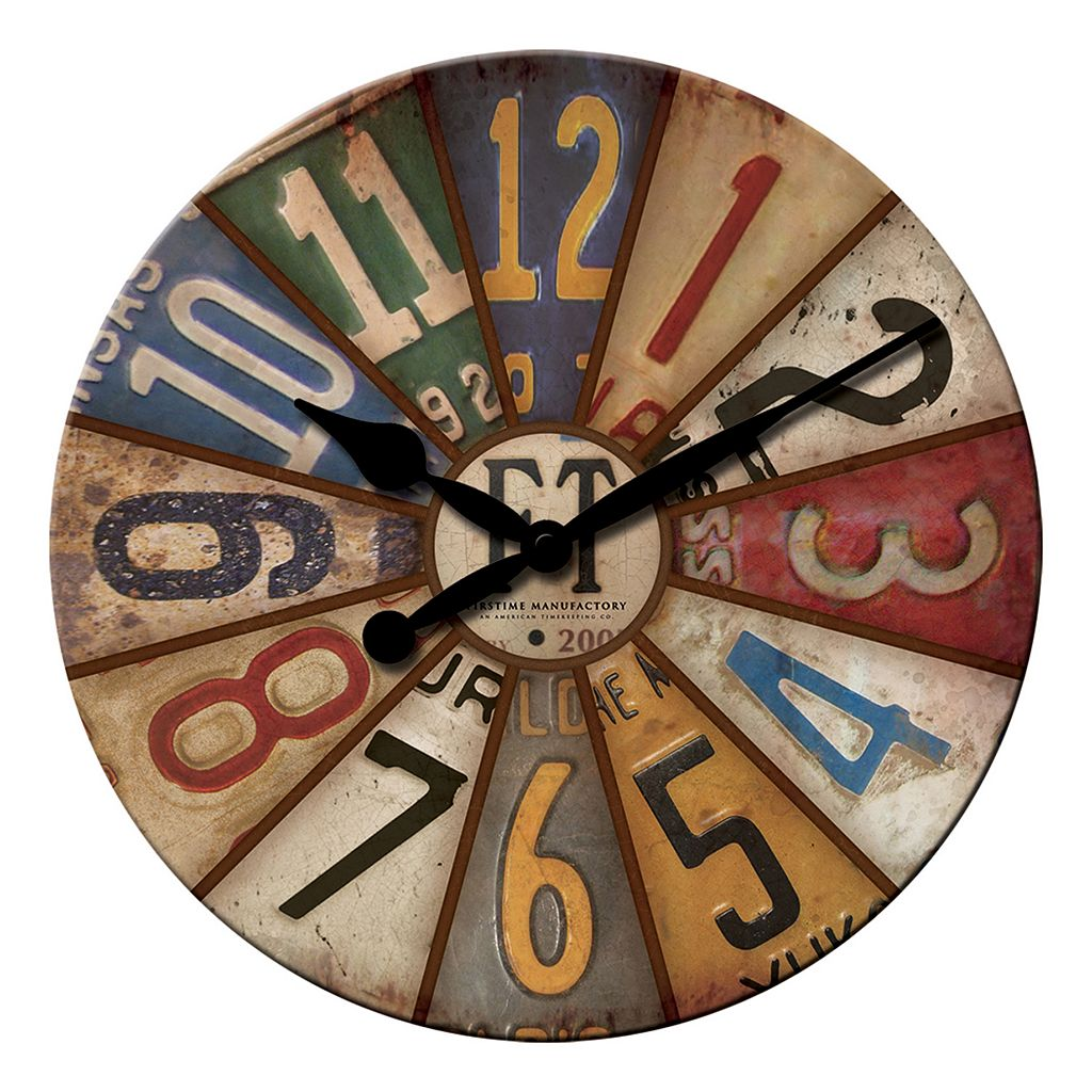 FirsTime Vintage Plates Wall Clock