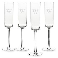 Cathy's Concepts Monogram 4-pc. Contemporary Champagne Flue Set
