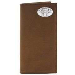 Zep-Pro Texas Longhorns Concho Crazy Horse Leather Secretary Wallet