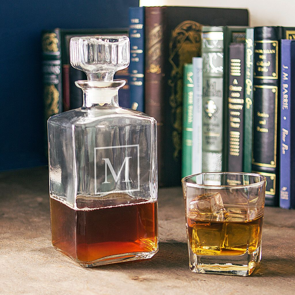 Cathy's Concepts Monogram Glass Decanter