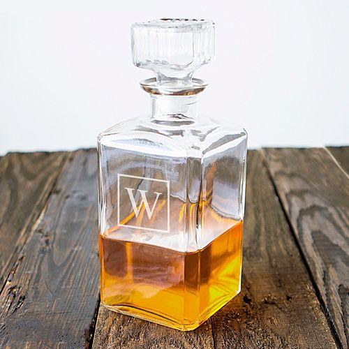 Cathy's Concepts Monogram Glass Decanter