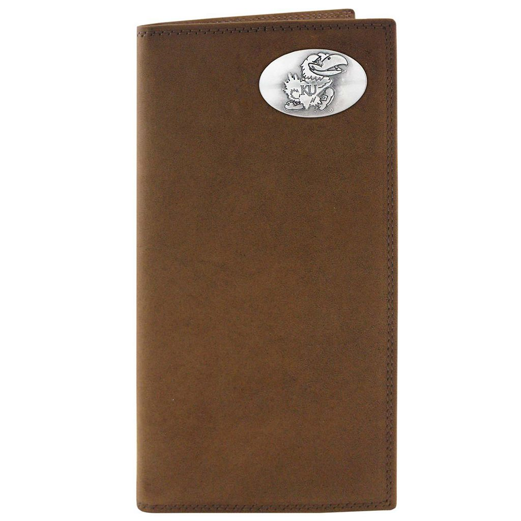 Zep-Pro Kansas Jayhawks Concho Crazy Horse Leather Secretary Wallet