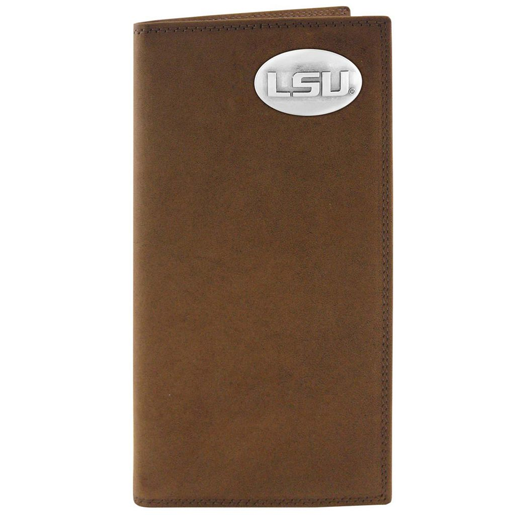 Zep-Pro LSU Tigers Concho Crazy Horse Leather Secretary Wallet