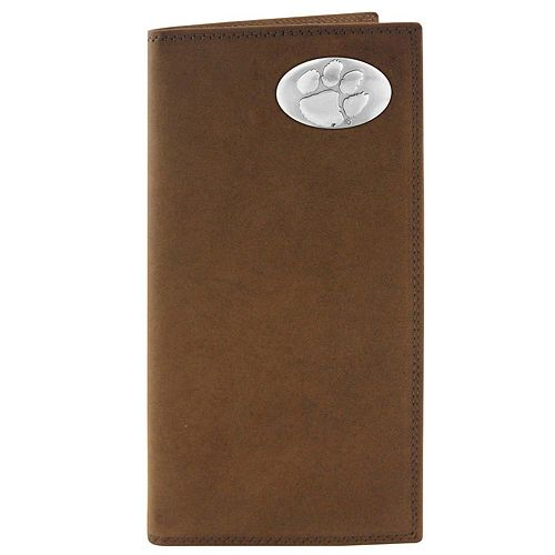 Zep-Pro Clemson Tigers Concho Crazy Horse Leather Secretary Wallet